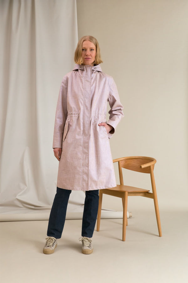 CAMERON Shiny Parka Coat rose