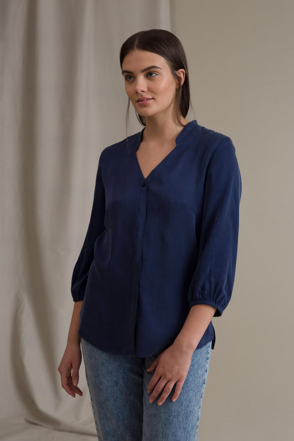 CARRIE Blouse lake blue
