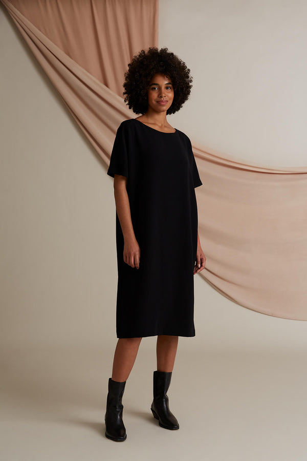 Cherish loose fit t-dress black