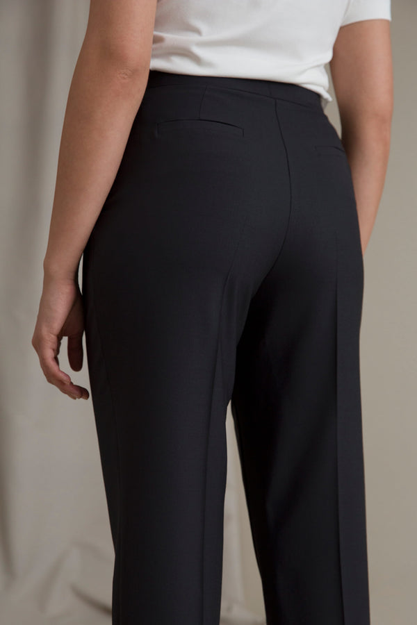 CINDY High Waist Trousers blackest behind