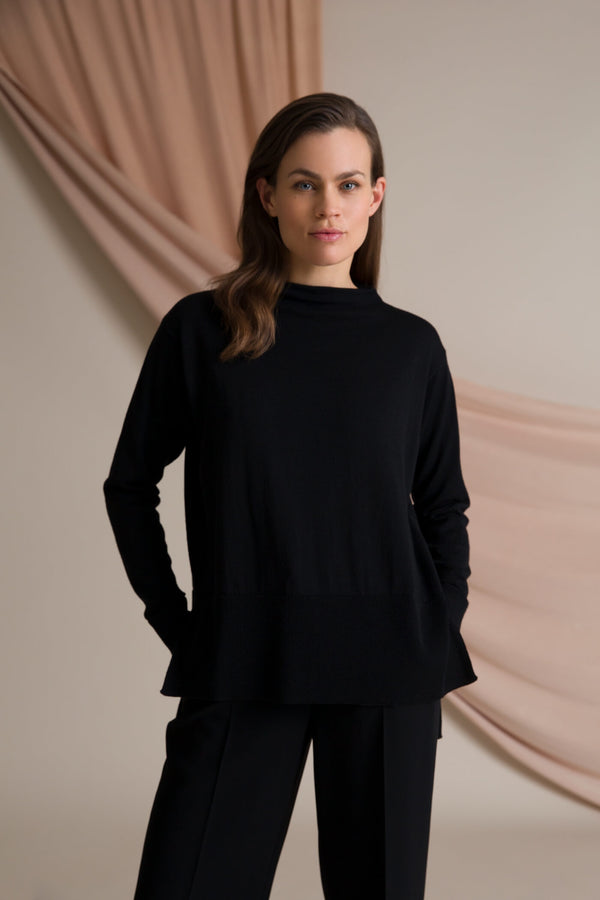 Claire loose fit jumper blackest
