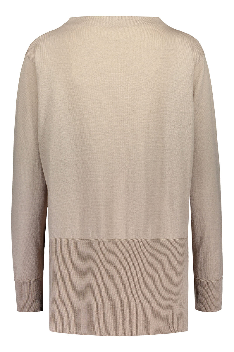 Claire loose fit jumper cafe latte back
