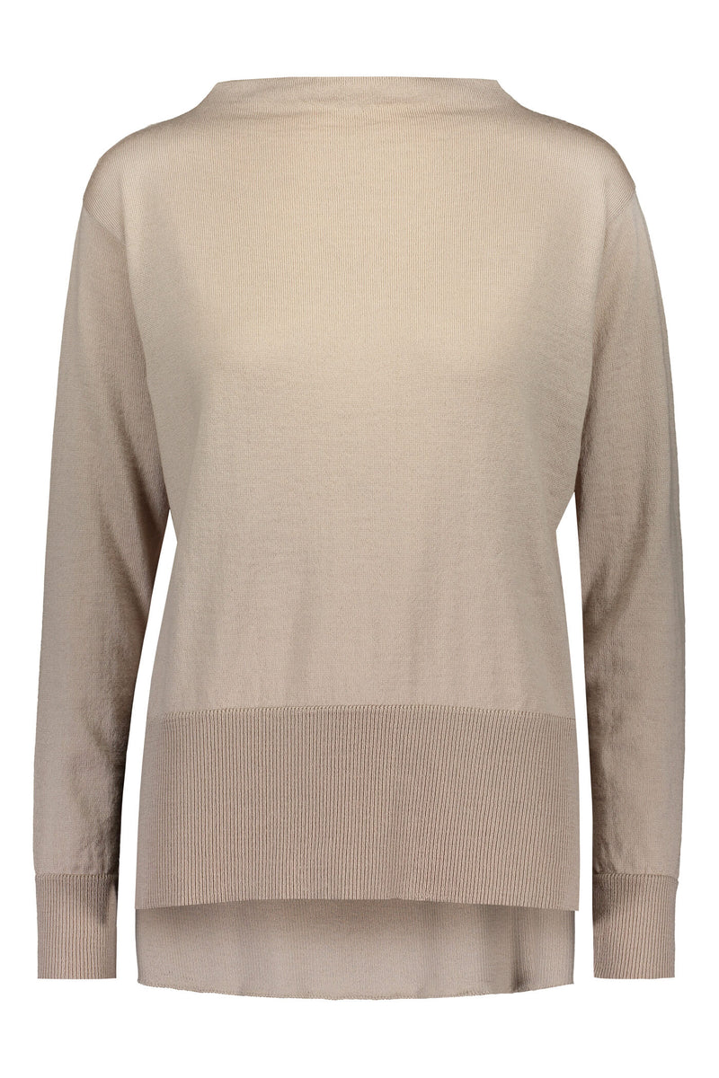 Claire loose fit jumper cafe latte front