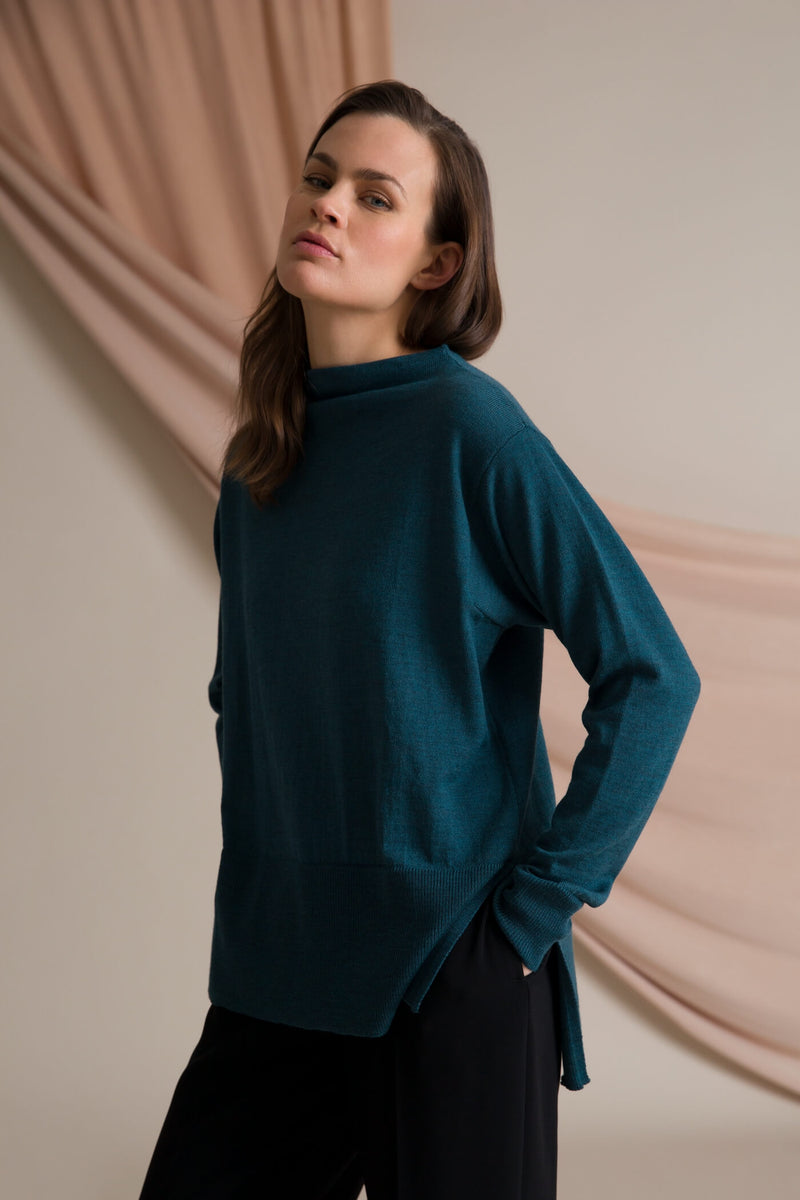 Claire loose fit jumper seapine