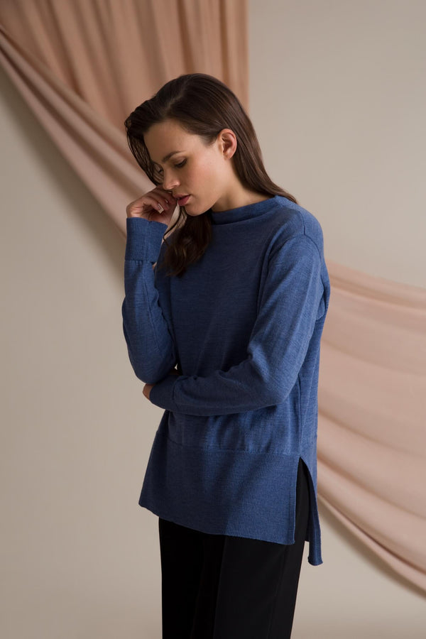 Claire loose fit jumper smokey blue