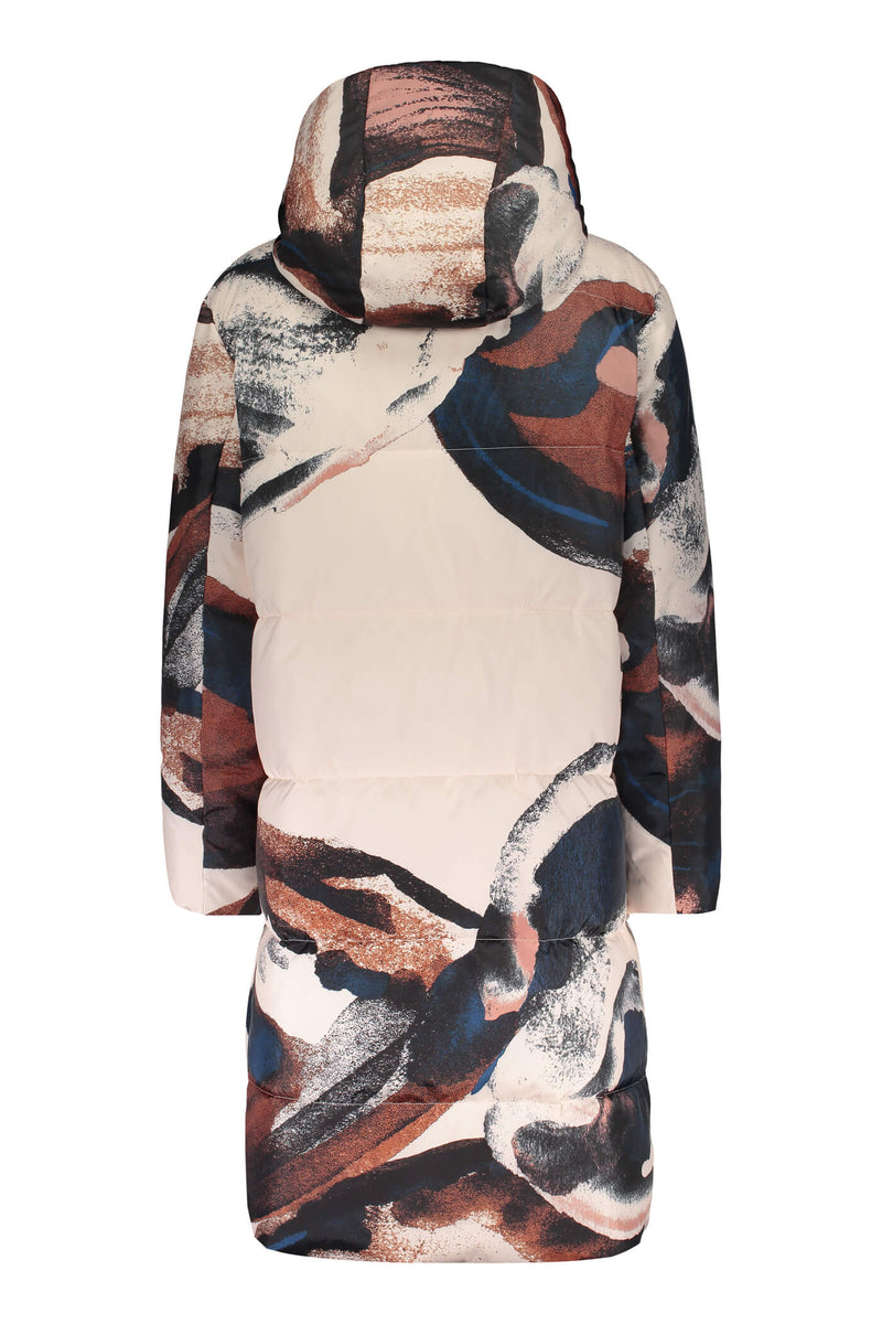 COCO Patterned Puffer Coat blush/multicolored back