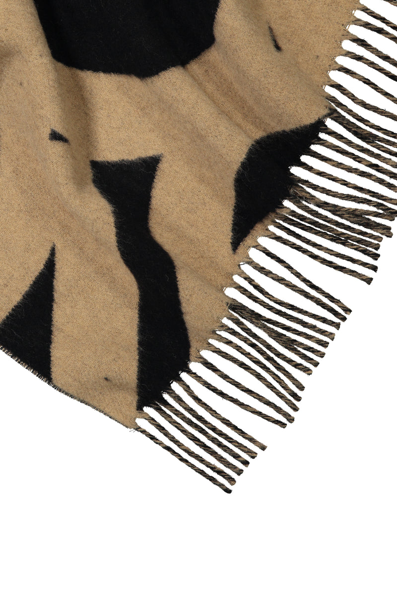 COLETTE Patterned Wool Scarf