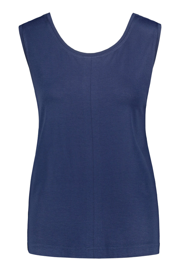 Cross back top dark blue front