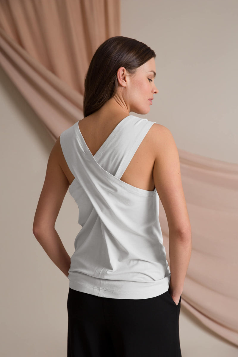 Cross back top soft white