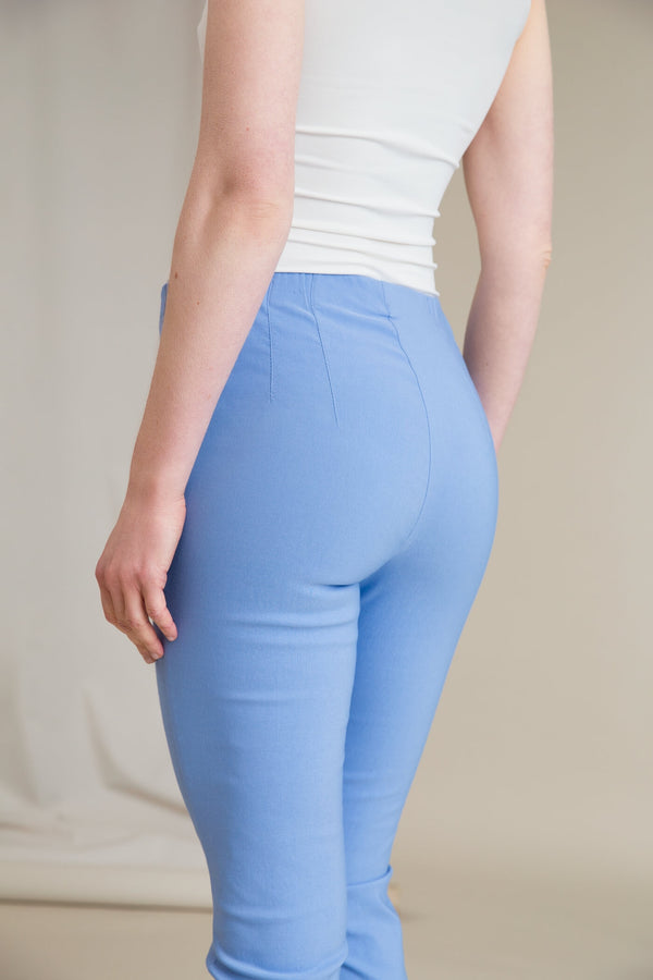 DARIA Stretch Trousers light blue behind