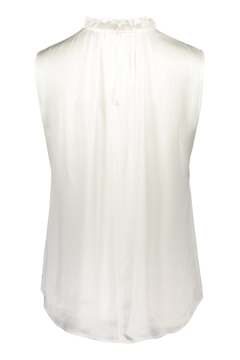 Darleen sleeveless blouse soft white back