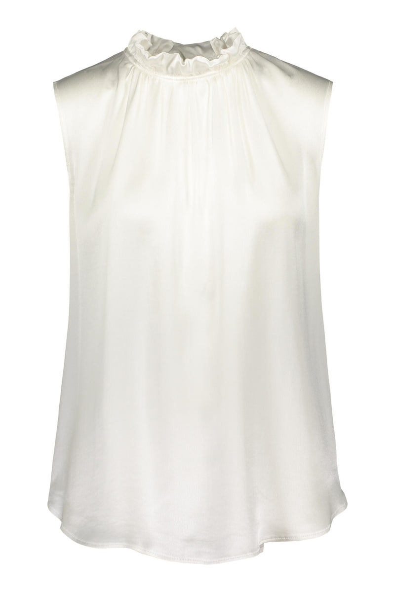 Darleen sleeveless blouse soft white front