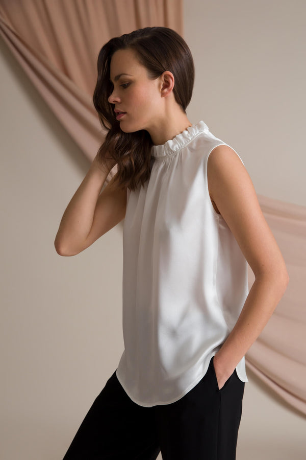 Darleen sleeveless blouse soft white