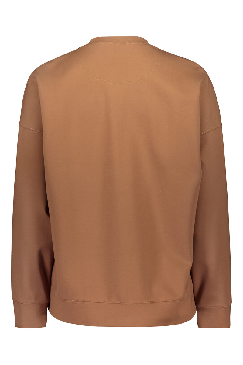 Dixie relaxed sweater brown back