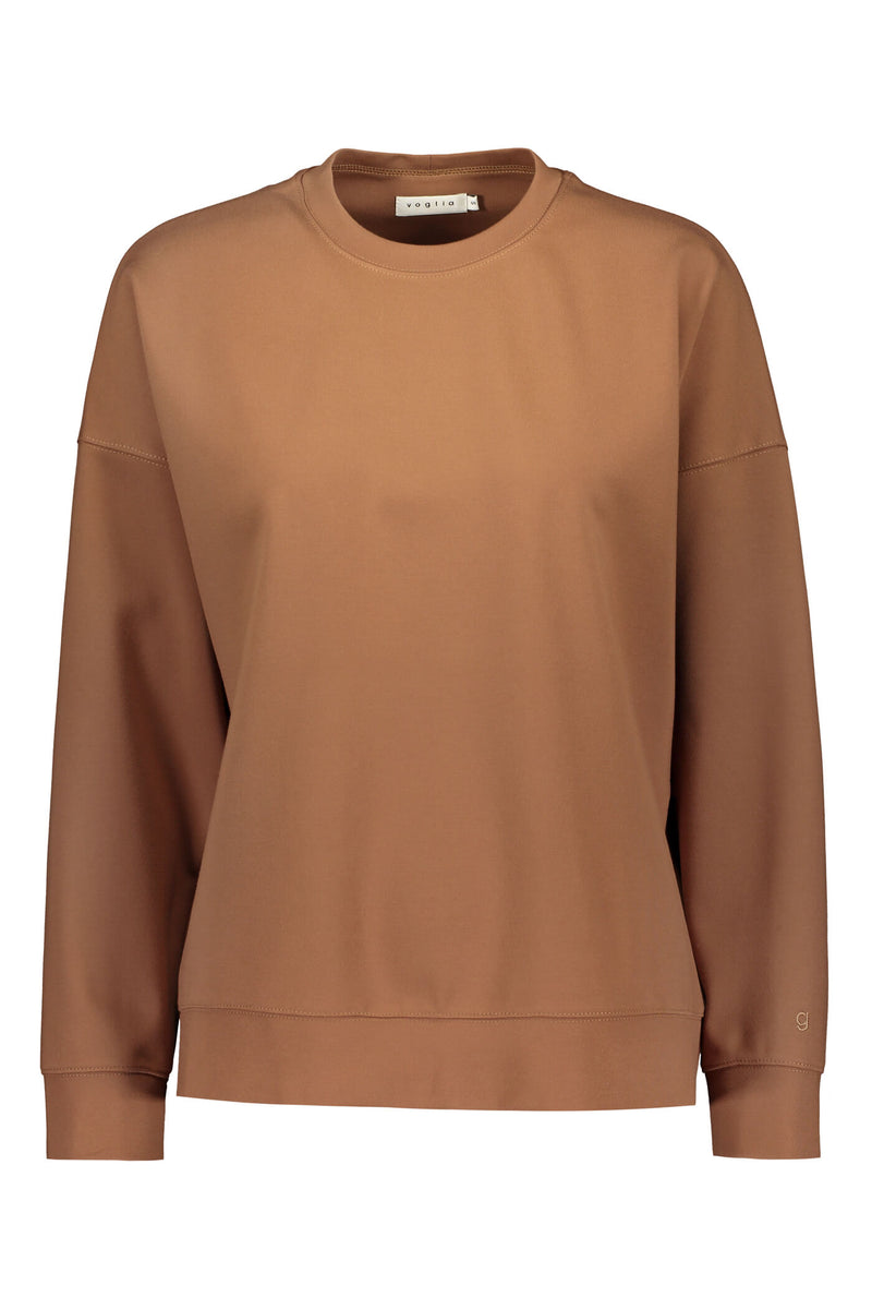Dixie relaxed sweater brown front