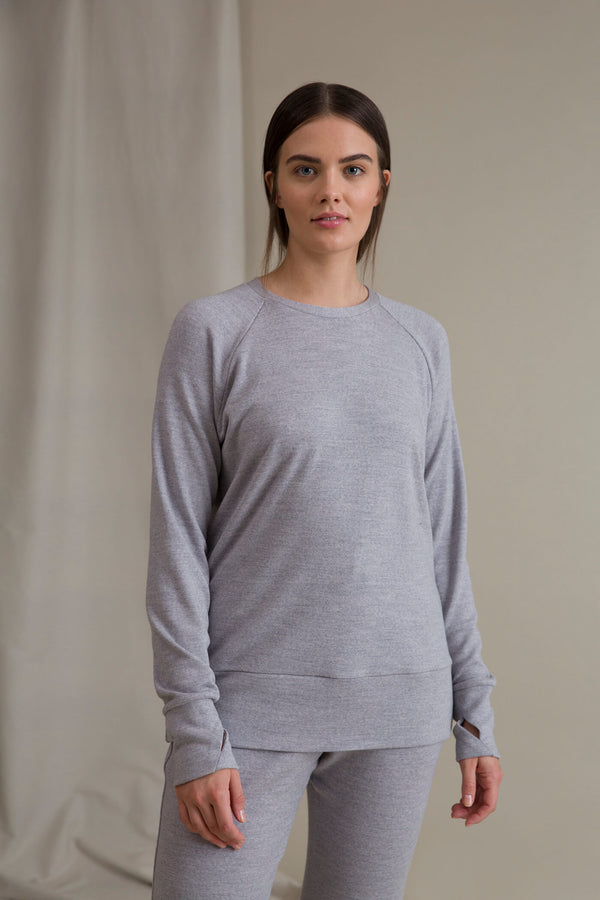 DOROTA Merino Wool Sweater grey