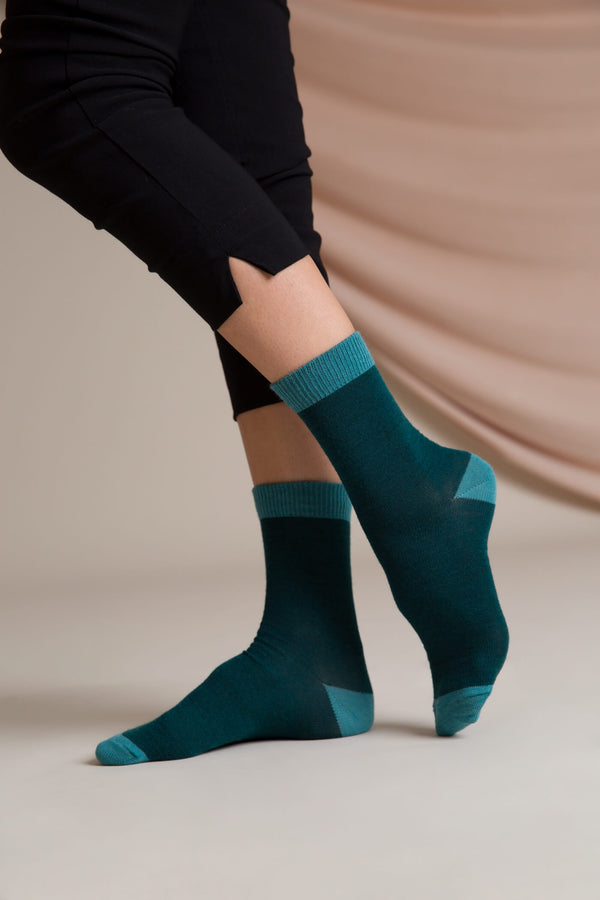 Ellis merino wool socks seapine