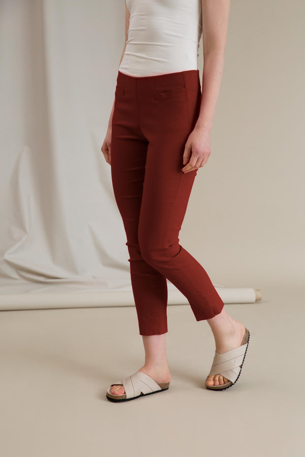 ELZA Stretchy Slacks dark terra