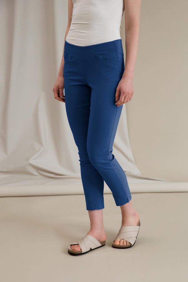 ELZA Stretchy Slacks smokey blue