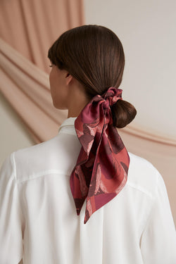 Ema big hair scrunchie burgundy marsala
