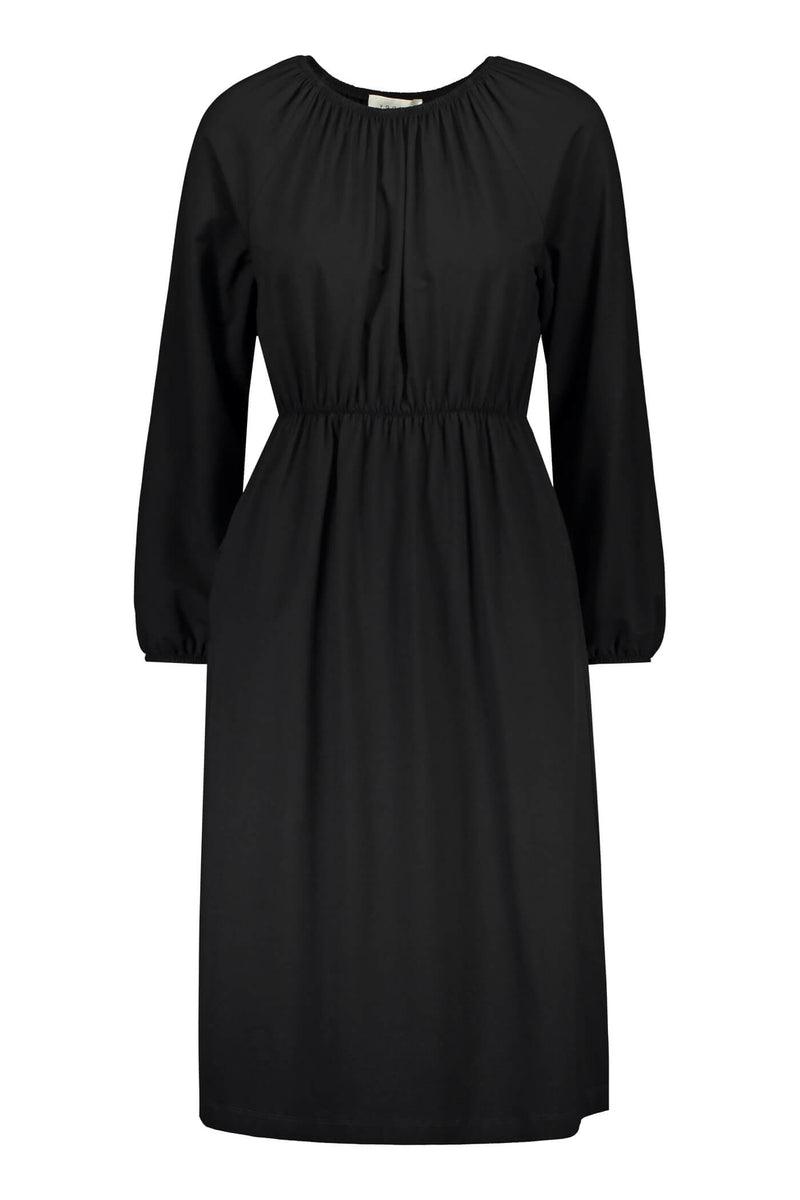 ETTA Raglan Sleeve Dress black front
