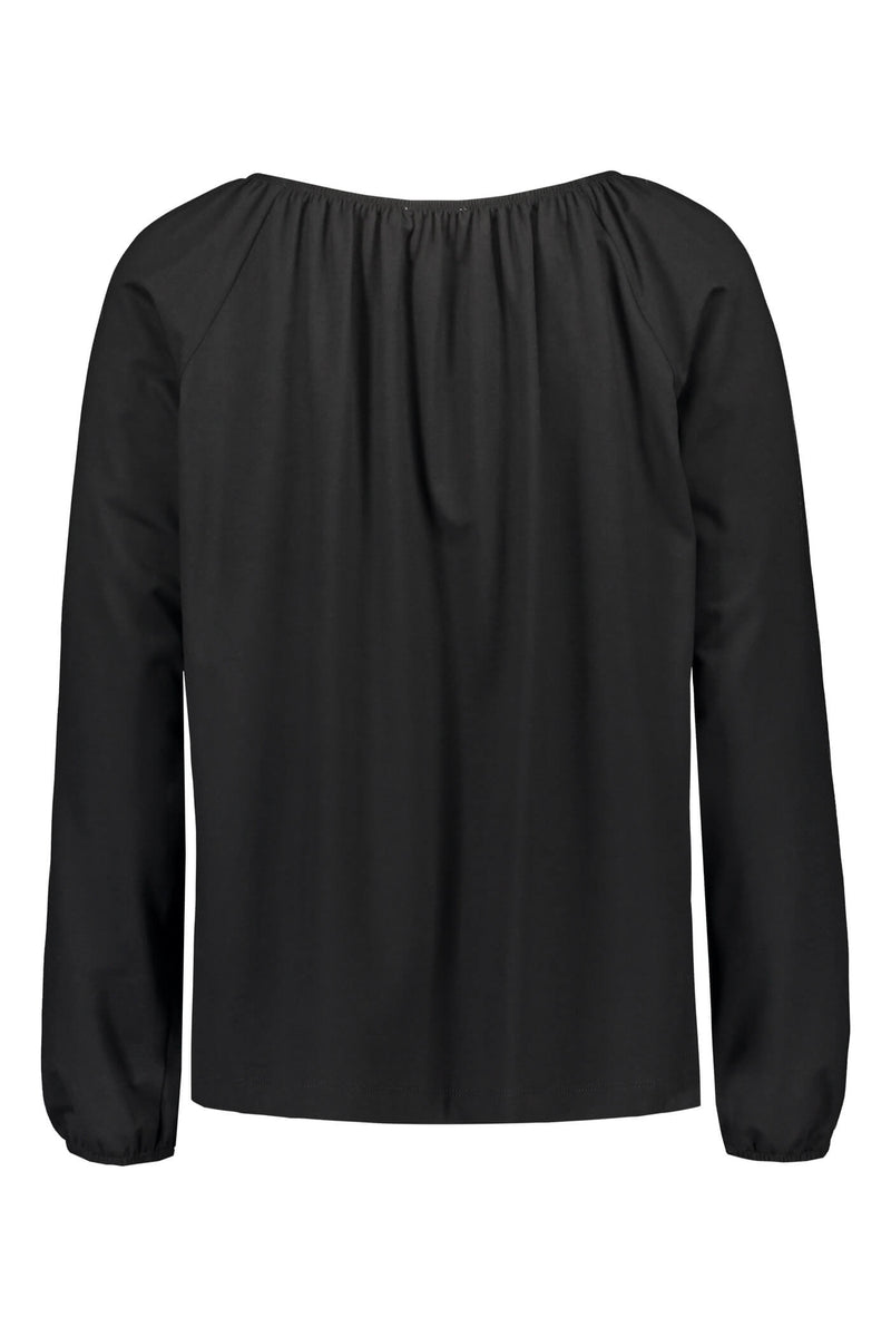 EVALYN Raglan Sleeve Blouse black back