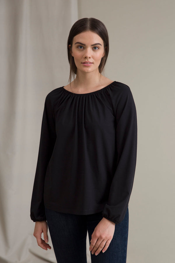 EVALYN Raglan Sleeve Blouse black