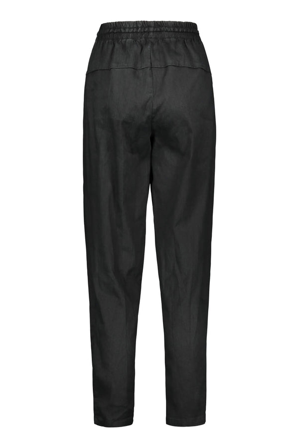 FIONA Drawstring Trousers blackest back