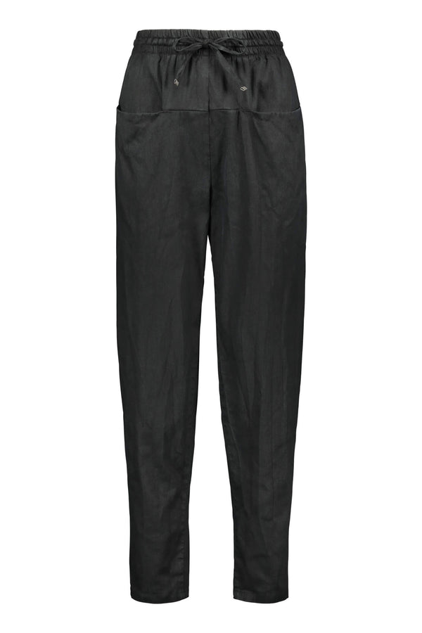 FIONA Drawstring Trousers blackest front
