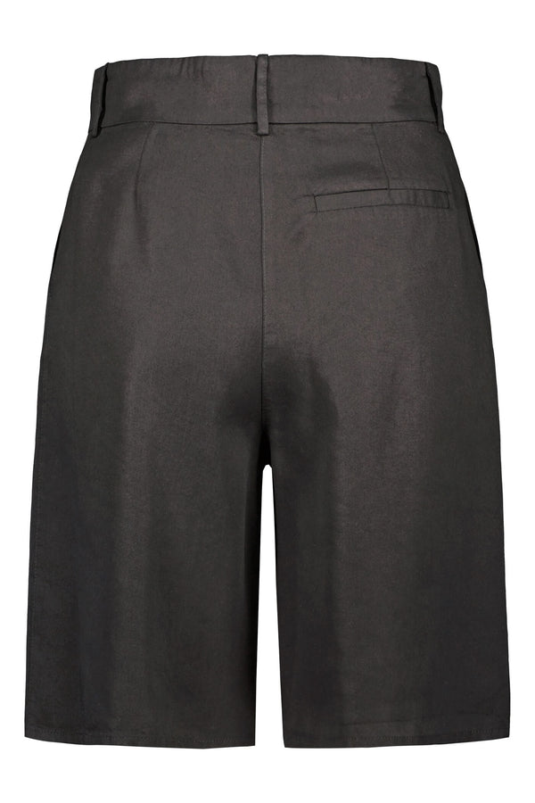 FRANCES Pleated Shorts blackest back