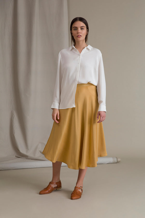 GISELLE A-Line Midi Skirt honey