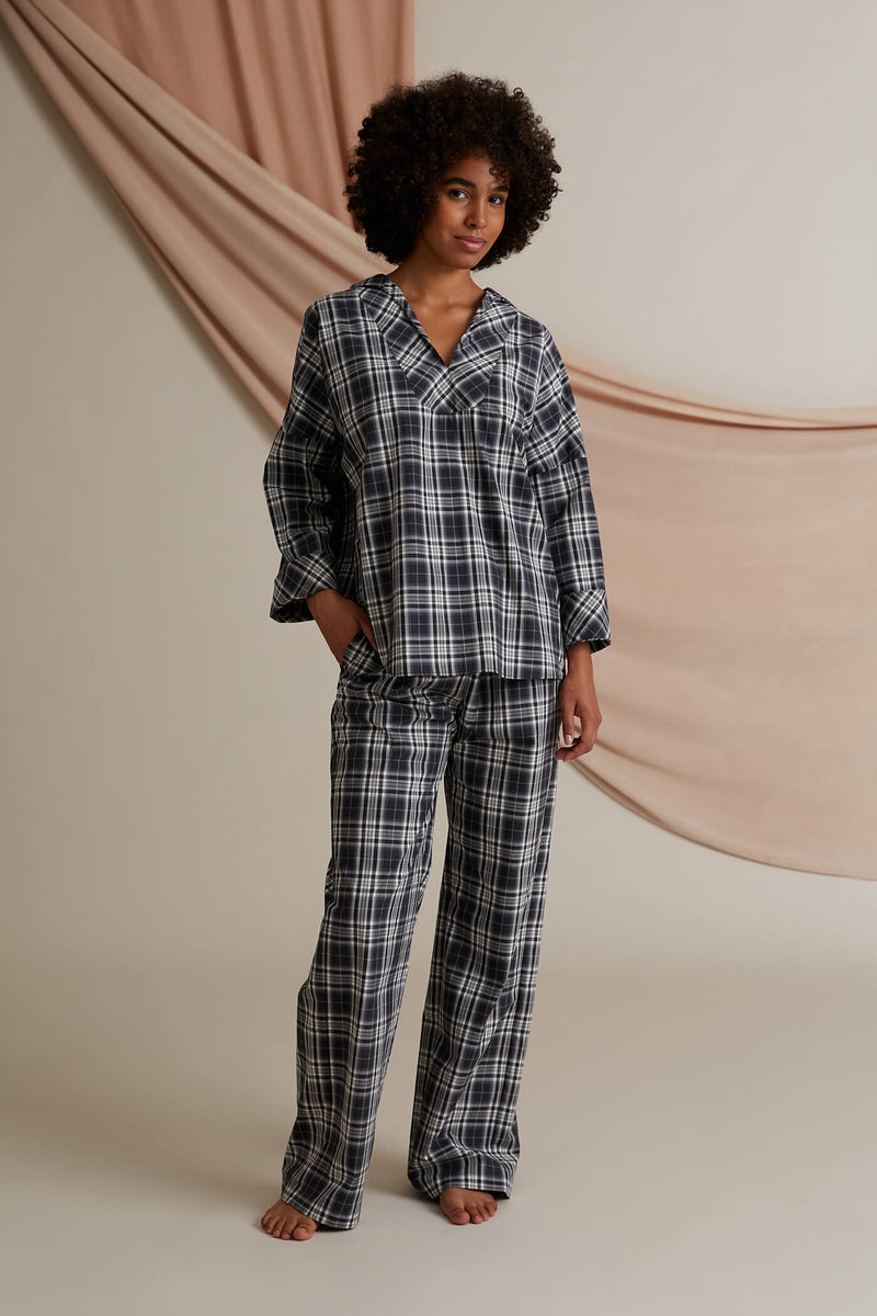 Gwen pyjama set dark grey