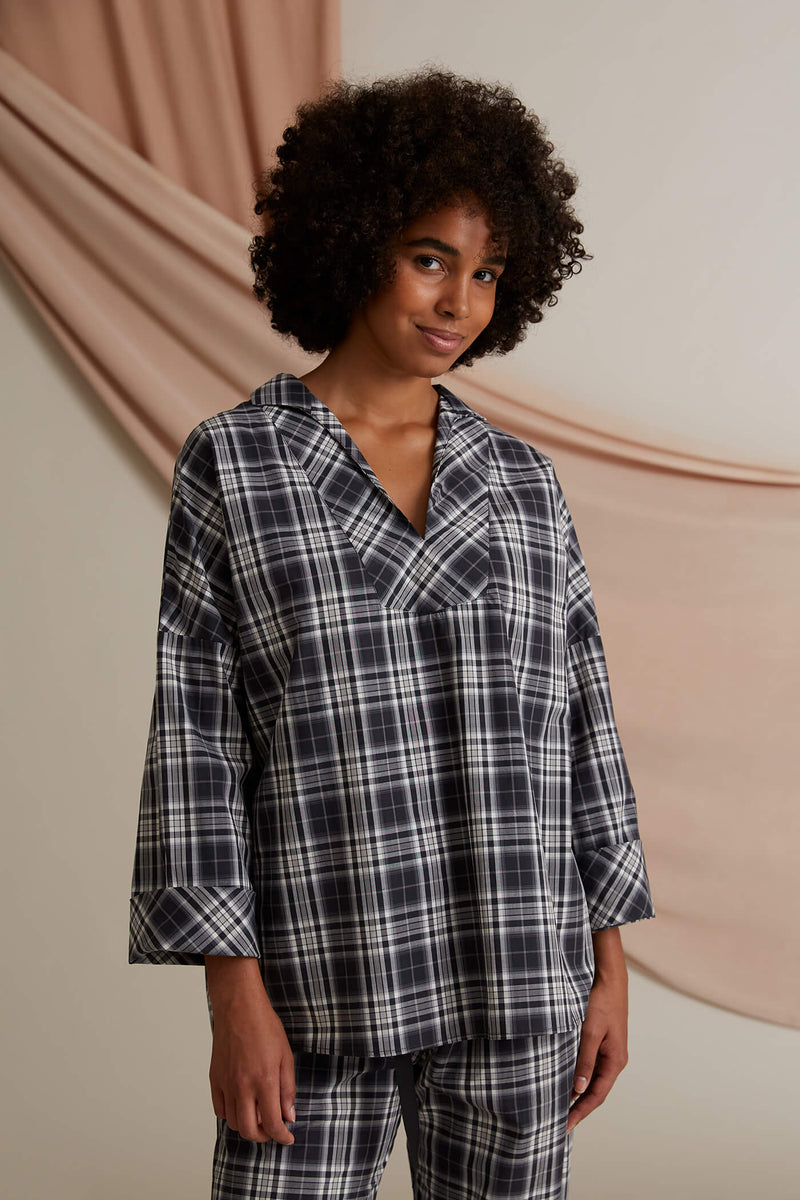 Gwen pyjama shirt dark grey