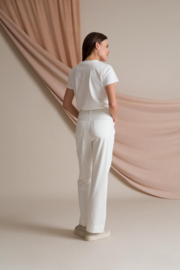 HELENA Ankle Length Pants soft white behind