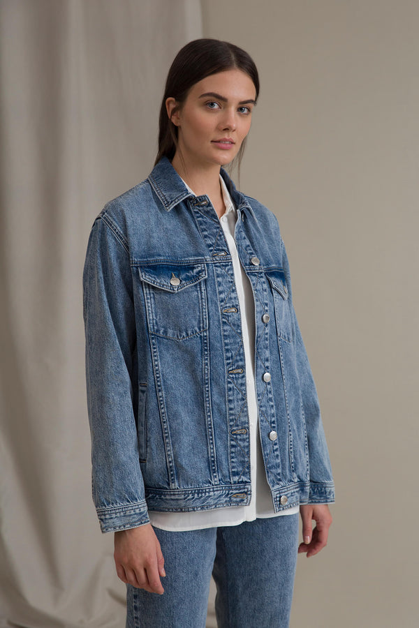 HOPE Denim Jacket blue denim