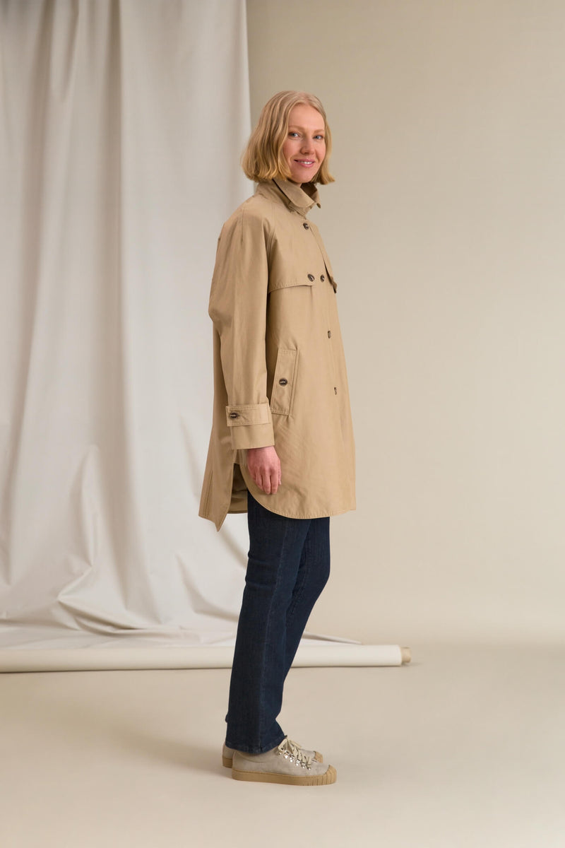 IRIS Oversize Coat chalk side