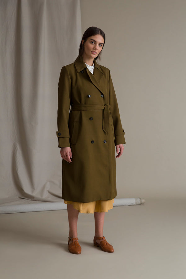 ISLA Trench Coat pine green