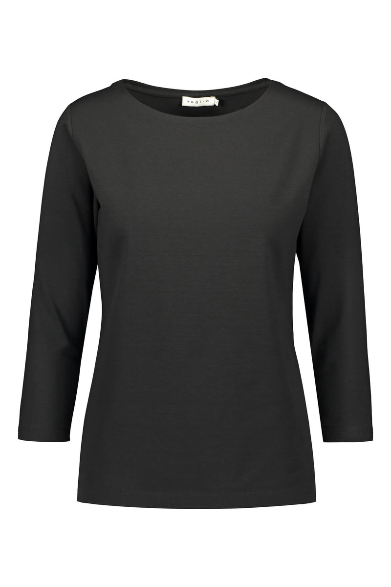 KAIA ¾ Sleeve Top black front