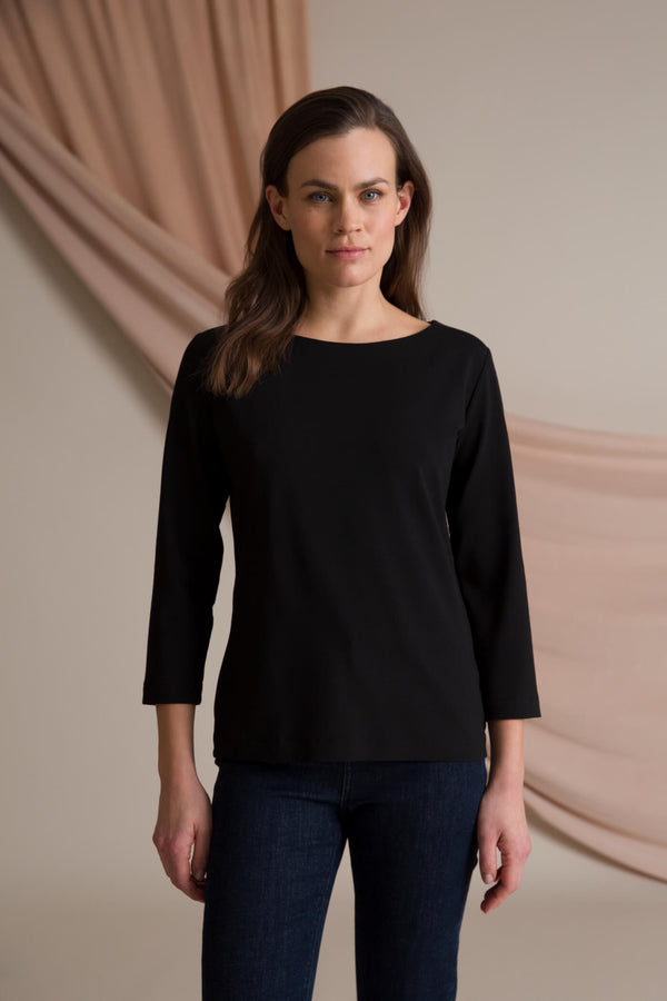 Kaia 3/4 sleeve top black