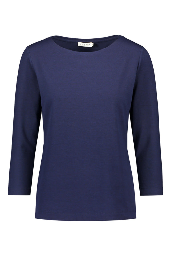 KAIA ¾ Sleeve Top navy front