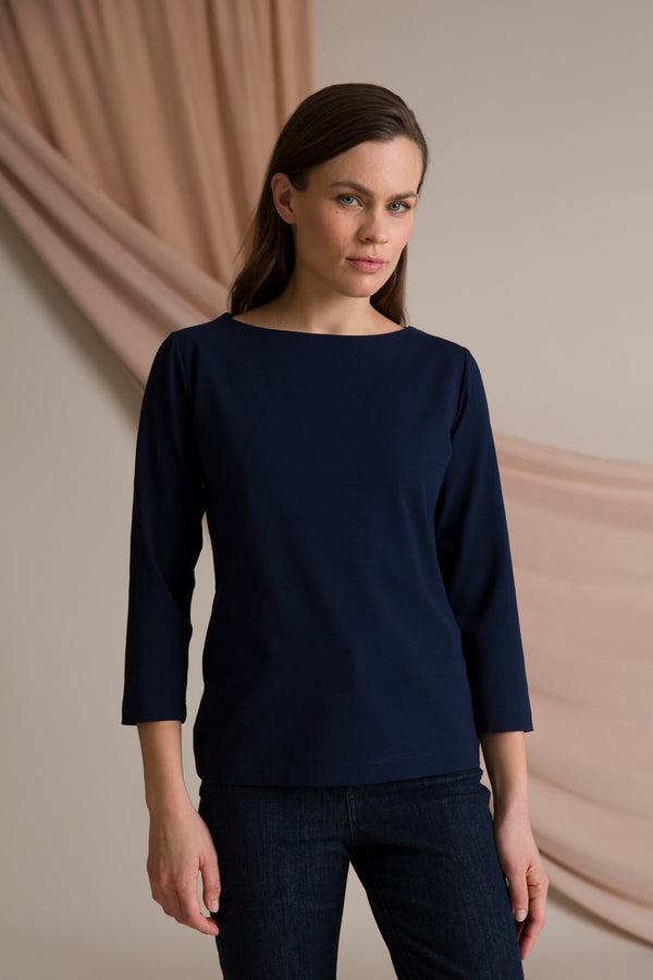 Kaia 3/4 sleeve top navy