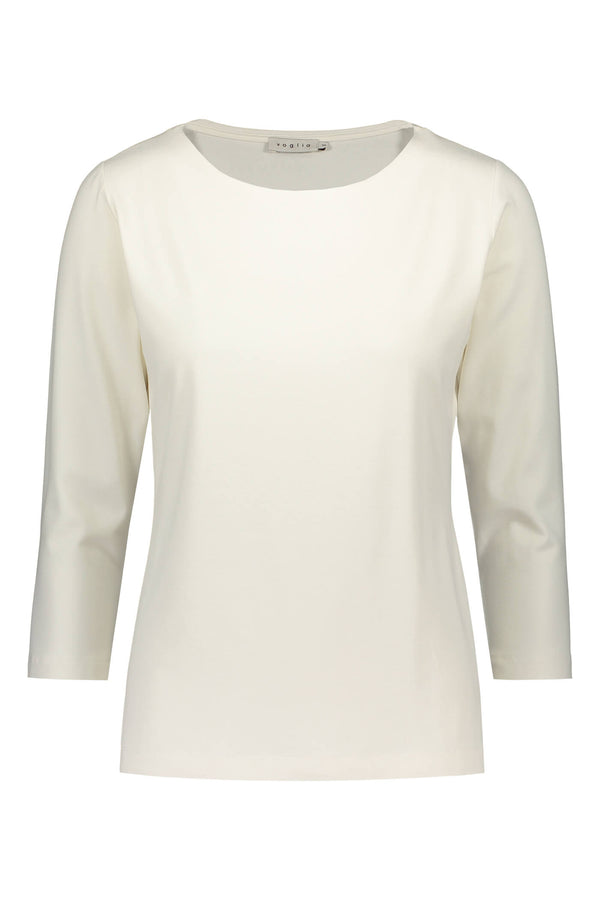 KAIA ¾ Sleeve Top white front