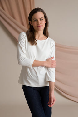 Kaia 3/4 sleeve top white