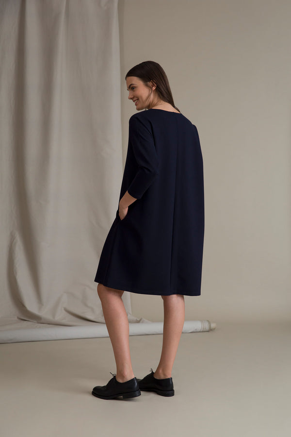 KAMILLA Boxy Dress navy behind