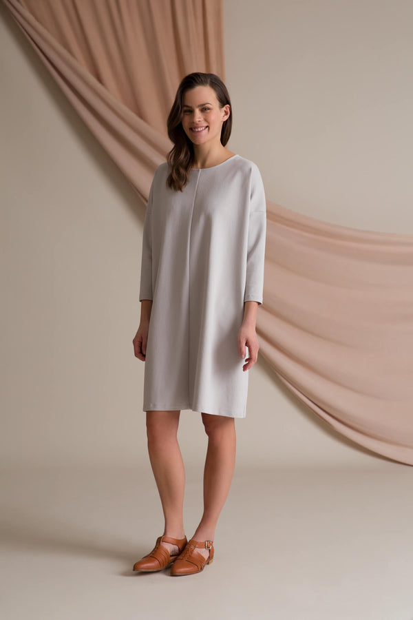 KAMILLA Boxy Dress pearl grey