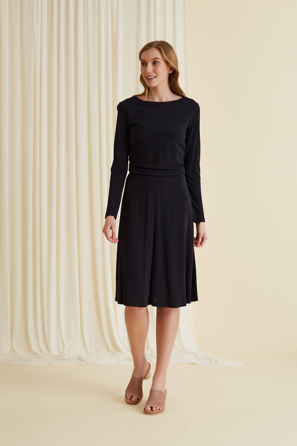Karla jersey dress navy