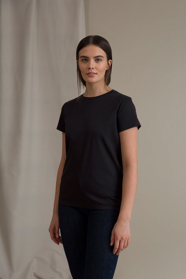 KATRINA Organic Cotton T-Shirt blackest