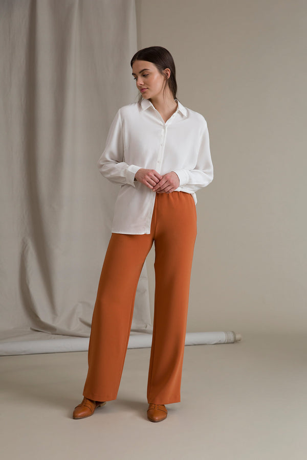 KEIRA Loose Fit Trousers terra