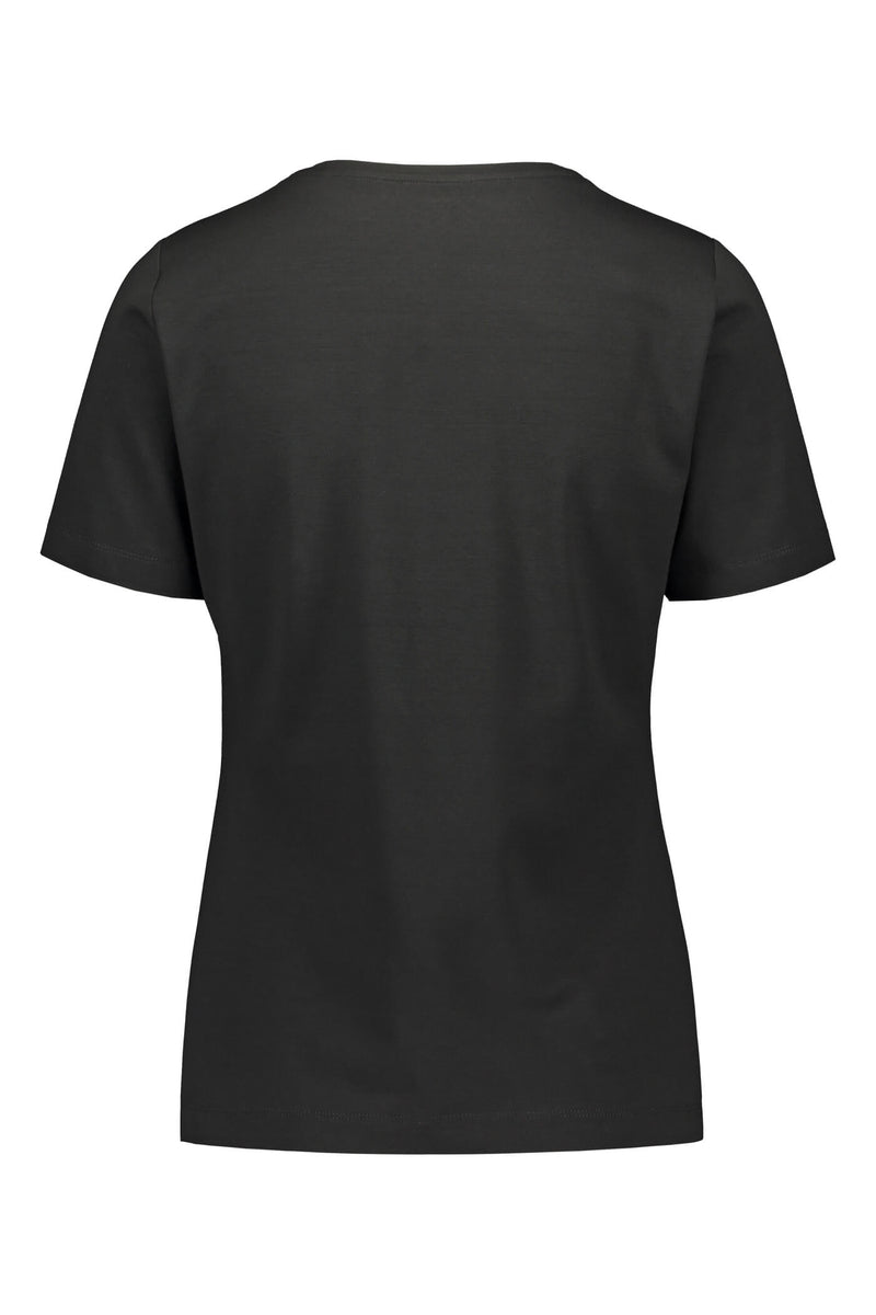 KENDALL Short Sleeve Top black back