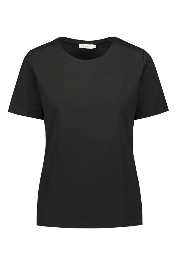 KENDALL Short Sleeve Top black front